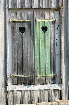 love shutters & hearts
