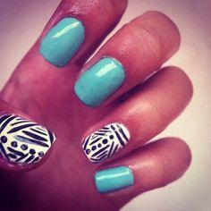 Cute summer nails #tribalprint