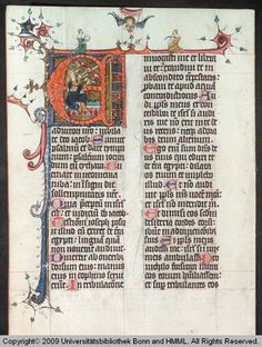 Cod. S 382 f.63v- E initial with David playing bells