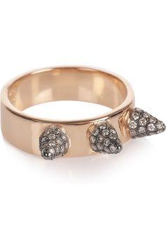 ILEANA MAKRI  Triple Spike 18-karat rose gold diamond ring