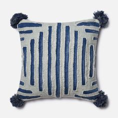 Shop Loloi  PSETP0406BBGYPIL1 Poly-Set Blue and Grey Square Decorative Pillow at ATG Stores. Browse our decorative pillows, all with free shipping and best price guaranteed.