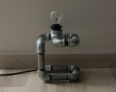Cube Table Lamp - Industrial style Pipe Lamp