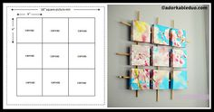 DIY Sectioned Canvas Wall Art Tutorial Room Wanted, Old Paintings, Diy Wall Art, Diy Tutorial, Canvas Wall Art, Art Pieces, Old Things, Mixed Media, Tutorials