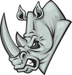 Cartoon Of Rhino Head Clip Art, Vector Images & Illustrations - iStock