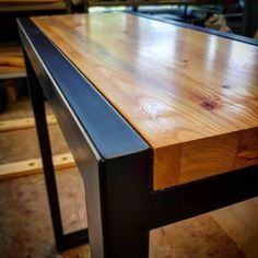 Fine Wood Table Designs Look around as you move throughout your day. From mailbox posts to pieces of furniture and art to full buildings, the power to use wood to create is Welded Furniture, Industrial Design Furniture, Iron Furniture, Steel Furniture, Pallet Furniture, Furniture Projects, Furniture Design, Furniture Movers, Antique Furniture