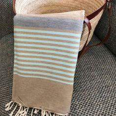 Fouta tunisienne drap de plage - ADGArt Textile Art, Geometry, Weave, Madrid, Burlap, Reusable Tote Bags, Textiles, Stripes, France