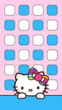 Hello Kitty Wallpaper, Kawaii Wallpaper, Cute Wallpapers, Iphone Wallpapers, Iphone Backgrounds, Hello Kitty Pictures, Sanrio Characters, Kawaii Cute, Aesthetic Wallpapers