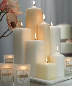 Best Wedding Decorations: Pillar Candle Wedding Centerpieces Ideas