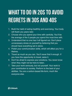 What to do in your 20s to avoid regret in 30s and 40s Words To Describe People, Ptsd Awareness, Save Yourself, Take That, Things To Think About, Personal Development, Be Still, Quote Of The Day, Self Care