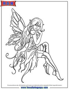 Beautiful Cartoon Fairy In Boots Coloring Page