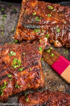 How to Make Easy Fork Tender Ribs {Sweet & Tangy Pork Ribs Marinade} Cooked Pork Recipes, Recipes Using Pork, Rib Recipes, Grilling Recipes, Cooking Recipes, Grilling Ideas, Cooking Games, Yummy Recipes, Dinner Recipes