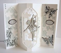 Tonic's new launch – the Rococo Fairy Collection (Another Day, Another Card) - Schuh Fancy Fold Cards, Folded Cards, Card Making Inspiration, Making Ideas, Tonic Cards, Tattered Lace Cards, Studio Cards, Birthday Cards For Friends, Shaped Cards