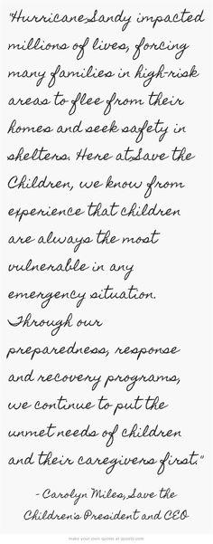 Donate Here: www.savethechildren.org/sandy