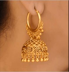 Gold Bangles Design, Gold Earrings Designs, Gold Jewellery Design, Gold Jhumka Earrings, Necklace Designs, Gold Jewelry, Bridal Bangles, Bridal Jewelry Sets, Wedding Jewelry
