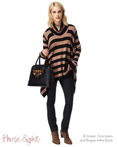 Jill Jumper, Cora Jeans and Brogue Ankle Boots from Phase Eight