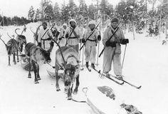 Winter War, Reindeer patrol in Jäniskoski near Petsamo 20th Feb. 1940