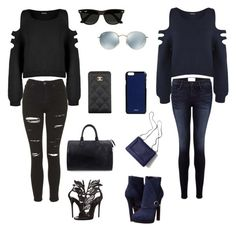 Different worlds by champayne-wheeler on Polyvore featuring polyvore fashion style WearAll Topshop Frame Denim Alexander McQueen Giuseppe Zanotti Louis Vuitton Chanel Valextra Ray-Ban 3.1 Phillip Lim clothing