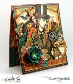 Steampunk Card for Clearsnap Bog Hop 3