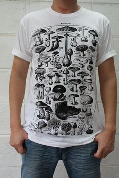 CLASSIC MUSHROOM retro indie punk vintage men tshirt by sabinashop, $14.99