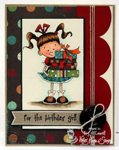 KKS182 - Birthday Girl by MrsOke - Cards and Paper Crafts at Splitcoaststampers