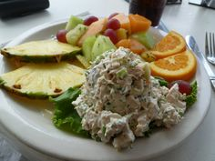 Chicken Salad at the Sandbar Restaurant, Anna Maria Island, Florida