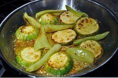 Zucchini Squash Recipe, Round Zucchini Squash with Banana Peppers, Banana Pepper Recipes, Squash Recipes