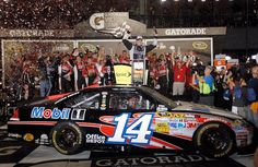 Tony Stewart in Victory lane for the 2012 Coke Zero 400, 7/7/12