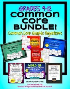 Common Core Organizers & Activities BUNDLE Grades 9-12 - super value!