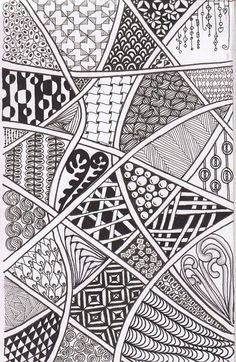 We've been requested to do more Zentangles with the Trekkers & Teens. From time-to-tangle.blogspot