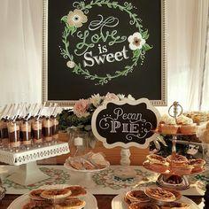 Cheryl & Vinay - Hilton Bonnet Creek Resort, Dessert Buffet by Two Sweets Bake Shop, Chalk Boards by Chalk Shop Events