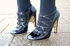 Chanel Shoes with Black Tights: A Girl, A Style