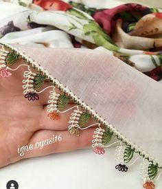 Embroidery Scarf, Bead Embroidery Patterns, Embroidery Patches, Beaded Embroidery, Hand Embroidery, Thread Art, Needle And Thread, Odd Molly, Needle Tatting Patterns
