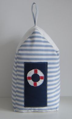 beach hut shaped doorstop