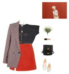 """""""Brush strokes."""" by greciapaola ❤ liked on Polyvore featuring Isa Arfen, Sandro, Gucci, Chanel, Native Gem and Tom Ford"""