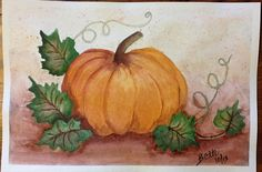 Pumpkin in watercolor