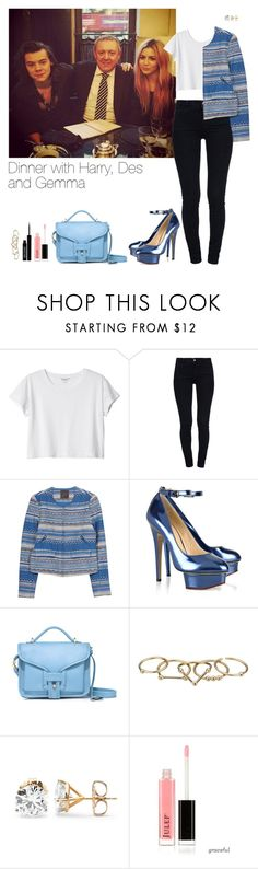 """Dinner with Harry, Des and Gemma"" by leftsouls ❤ liked on Polyvore featuring Monki, STELLA McCARTNEY, Charlotte Olympia, Opening Ceremony, Zimmermann and Lord & Berry"