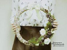 Новогодняя флористика - ВЕНОК на дверь - 2 в 1 - Ярмарка Мастеров - ручная работа, handmade