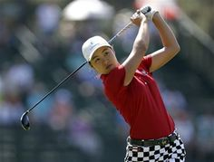 Minjee Lee, of Australia, watches her tee shot on the 13th hole during the second round of the U.S. Women's Open golf tournament in Pinehurst, N.C., Friday, June 20, 2014. (AP Photo/Bob Leverone) ▼20Jun2014AP|Li, 11, misses cut, makes impression at Open http://bigstory.ap.org/article/li-11-misses-cut-makes-impression-open #US_Womens_Open_Championship_2014