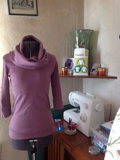 My very own Renfrew top by Sewaholic view c made in organic interlock jersey dusty orchid from The Village Haberdashery.