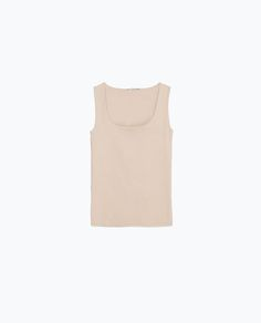 Image 6 of WIDE STRAP TOP from Zara