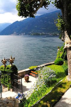 VIlla Balbianello, Lake Como.   Reach this from Lenno. Johnny will then take you there by boat and pick you up when a lady at this spot calls him for you to return.