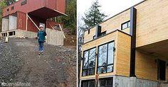 Con mucho ingenio esta chica utilizó 4 contenedores para construir su casa…