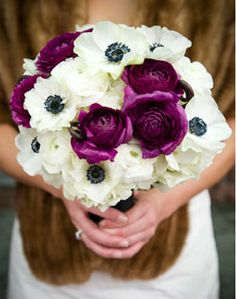 WeddingChannel Galleries: Purple and White Bridal Bouquet