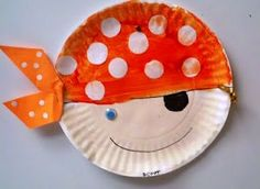 """""""pirates don't change diapers"""" craft Good Idea for PreSchool Library Sessions Preschool Pirate Theme, Pirate Activities, Preschool Crafts, Preschool Library, Toddler Crafts, Crafts For Kids, The Important Book, Diaper Crafts, Paper Plate Crafts"""