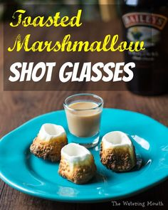 {recipe + video} Let's face it, shooting liquor from a marshmallow...so much fun! How to make Toasted Marshmallow Shot Glasses! Quick and easy recipe and tutorial video.