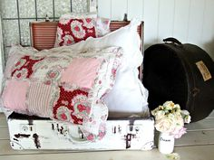 These are so pretty, let's do up the guestrooms............Sweet flowers, new pillows, quilts, yes!.............