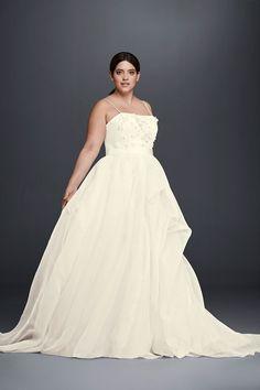 plus size wedding dress inspiration - illusion sleeve wedding