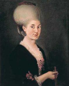 Maria Anna (Nannerl) von Berchtold zu Sonnenburg, 1785, artist unknown, Stiftung Mozarteum Salzburg collection http://www.mozarteum.at/en.html