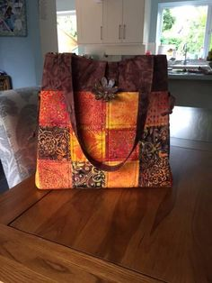 The Shades of Grey bag in striking orange colours. All Craft, Shades Of Grey, Dressmaking, Orange Color, Colours, Quilts, Bag, Fabric, Crafts