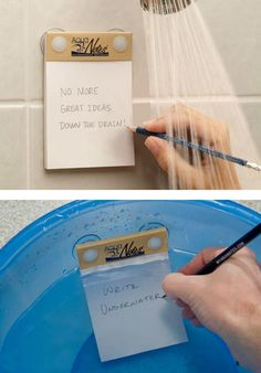 Write underwater... Very cool.